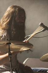 Sébastien Chave playing drums